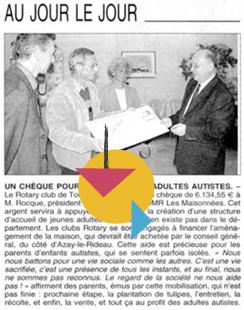 Un chèque pour la maison des adultes autistes